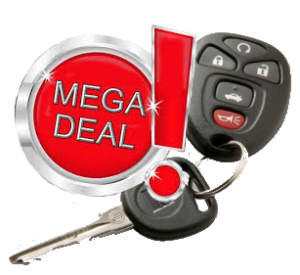 sleutel met button; mega deal
